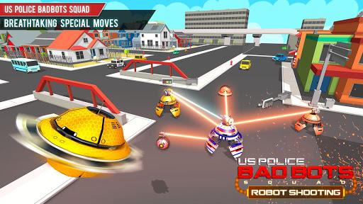 US Police Robot Shooting Crime City Game 2.9 screenshots 10