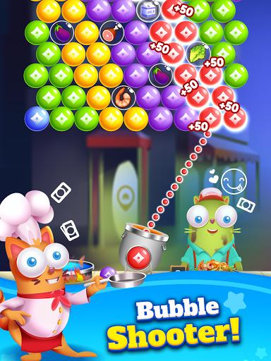 Kitten Games - Bubble Shooter Cooking Game apkmr screenshots 9