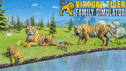 Virtual Tiger Family Simulator: Wild Tiger Games screenshots 6