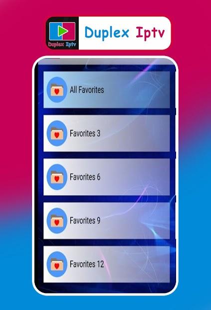 Captura de Pantalla 2 de Duplex IPTV player Clue para android