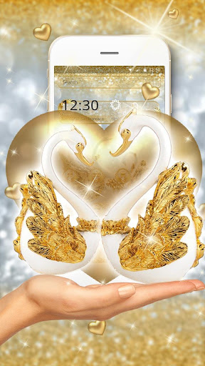 golden lovely couple swan theme screenshot 1