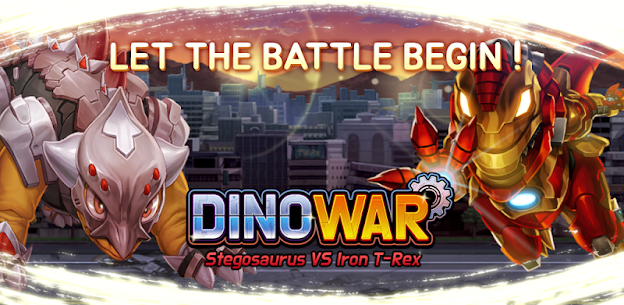 Dino War Stego VS Iron T-Rex Hack for iOS and Android 1