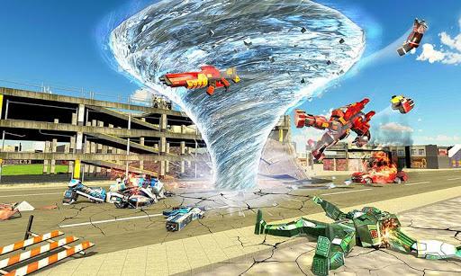 Tornado Robot games-Hurricane Robot Transform Game android2mod screenshots 1