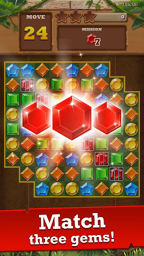 Jungle Gem Blast: Match 3 Jewel Crush Puzzles  screenshots 2