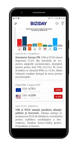 Biziday - Știri verificate 2.0.34 screenshots 1