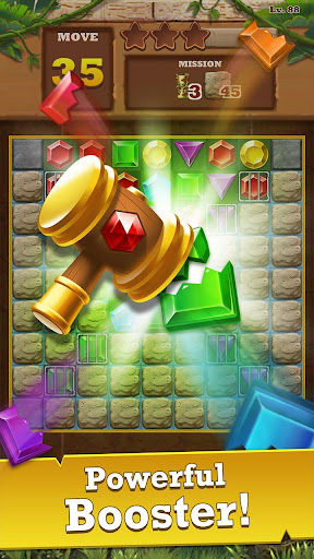 Jungle Gem Blast: Match 3 Jewel Crush Puzzles  screenshots 5