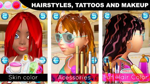 Princess Game Salon Angela 3D - Talking Princess android2mod screenshots 8