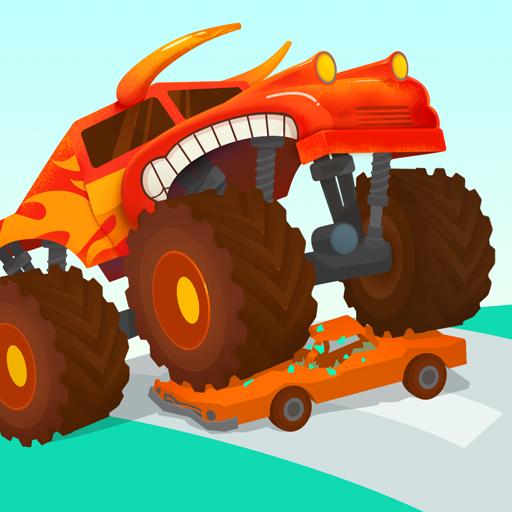 Monster Truck in Pista-Spasso in Pista per Bambini