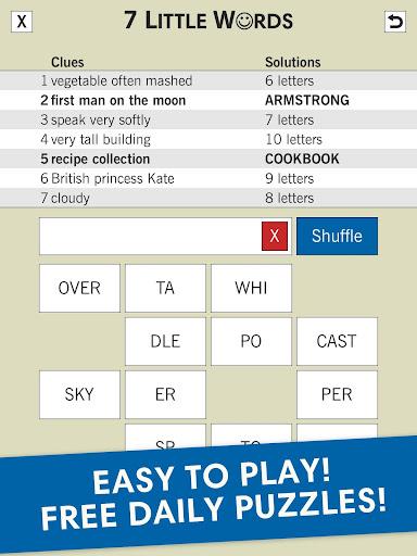 7 Little Words: A fun twist on crossword puzzles screenshots 4