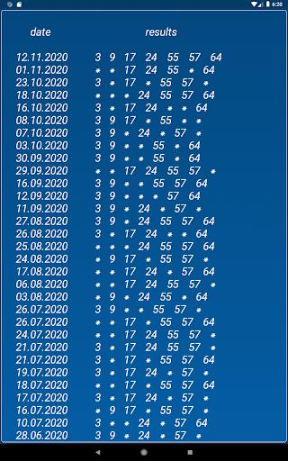 Keno FR combination statistics  screenshots 17