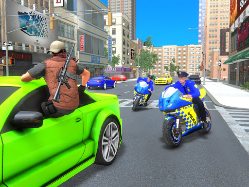 US Police Bike Gangster Crime - Bike Chase Game 3D 1.12 Screenshots 6