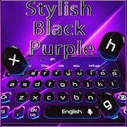 Stylish Black Purple Keyboard