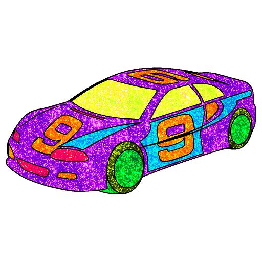 Vehicles Paint By Number Glitter Crayon Coloring Aplikasi Di Google Play