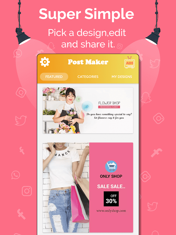 Social Media Post Maker, Planner, Graphic Design  poster 11