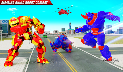 Rhino Robot Monster Truck Transform Robot Games  screenshots 16