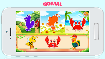 Animals jigsaw puzzle games for baby toddler kids