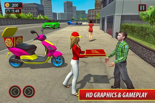 Moto Bike Pizza Delivery u2013 Girl Food Game 1.0 screenshots 4