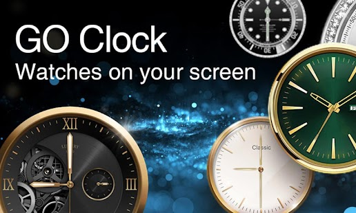 GO Clock - Alarm Clock & Theme Screenshot