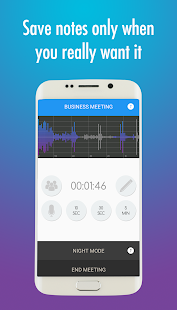 Meeting Notes Taker - Recorder, memo and minutes Screenshot
