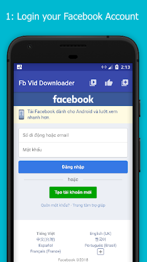 Story Saver and Video Downloader for Facebook  Screenshots 1
