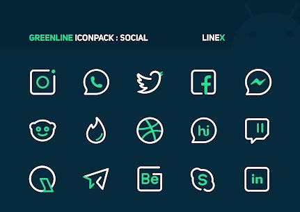GreenLine Icon Pack APK Download for Android 2