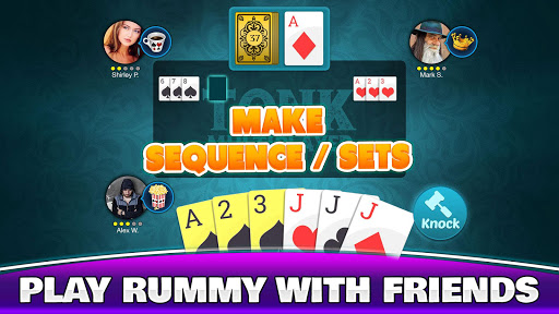 Tonk Multiplayer - Online Gin Rummy Free Variation modavailable screenshots 2