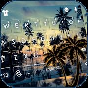 Sunset Beach Leisure Keyboard Theme