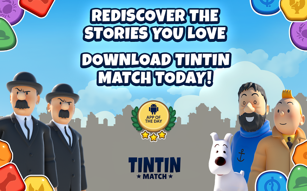 Tintin Match: Solve puzzles & mysteries together! poster 11