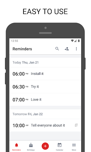 BZ Reminder PRO screen 0