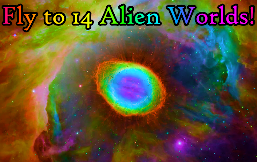 Alien Worlds Music Visualizer - Fluid UFO Chillout android2mod screenshots 1