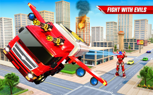 Flying Oil Tanker Robot Truck Transform Robot Game 33 Screenshots 5