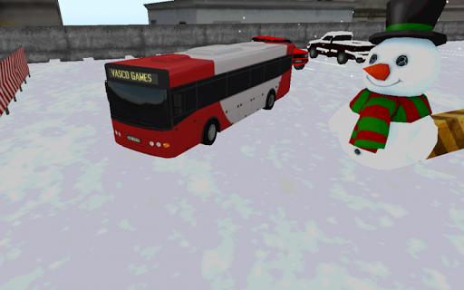 bus winter parking - 3d game screenshot 1