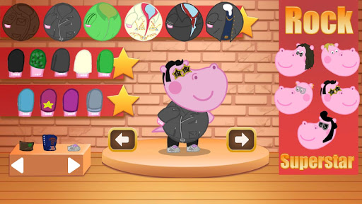 Kids music party: Hippo Super star screenshots 11