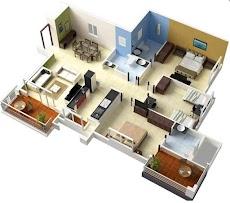 3Dホームデザインのアイデア 間取り図のおすすめ画像5