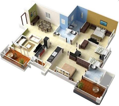 3Dホームデザインのアイデア|間取り図のおすすめ画像5