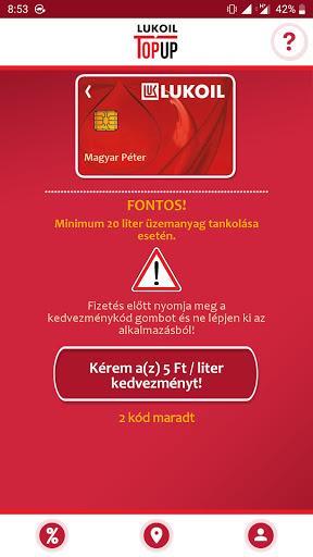LUKOIL TopUp: LUKOIL Magyarország  screenshots 1