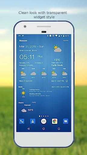 Weather & Clock Widget for Android screenshots 3