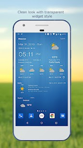 Weather & Clock Widget for Android 3
