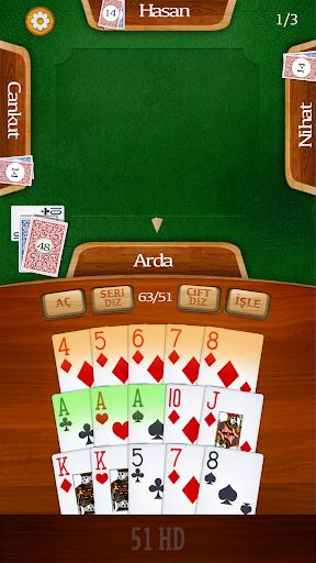 51 HD Kağıt Okey Oyunu 1.25 screenshots 1