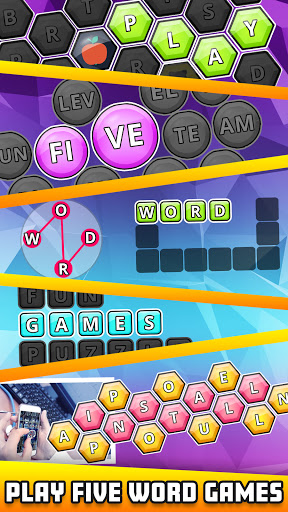 Word Guru: 5 in 1 Search Word Forming Puzzle modiapk screenshots 1