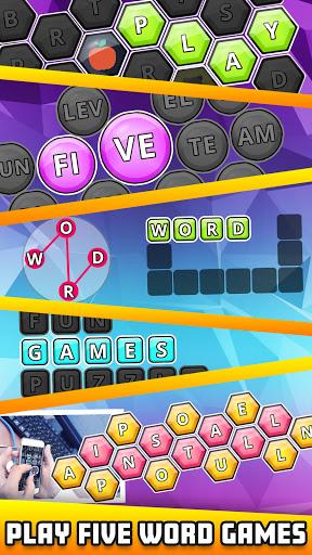 Word Guru: 5 in 1 Search Word Forming Puzzle 2.0 screenshots 1