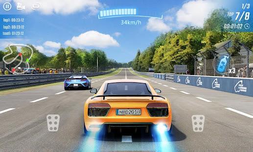racing in car city traffic hack