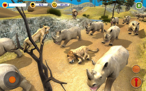 The Lion Simulator - Animal Family Simulator Game 1.3 screenshots 13