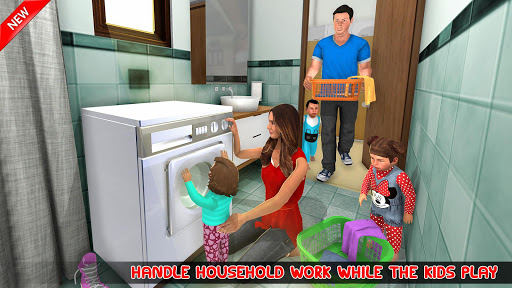 New Mother Baby Triplets Family Simulator  screenshots 13