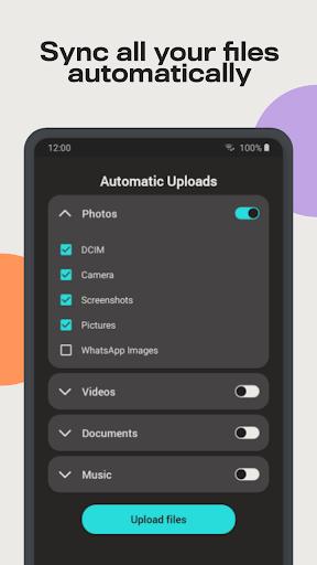 Degoo: 100 GB Cloud Storage apktram screenshots 2