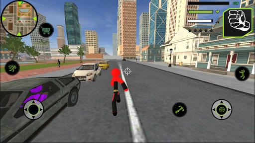 Bat Spider Stickman Rope Hero Vegas Gangstar Crime Screenshot 2