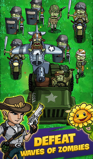 Zombie War: Idle Defense Game apkslow screenshots 1