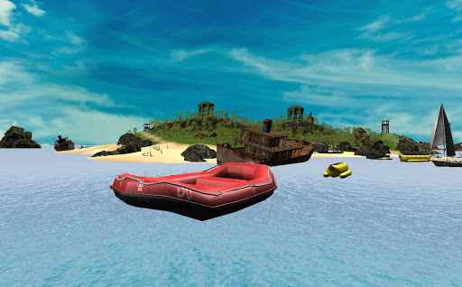extreme raft racer simulator screenshot 2