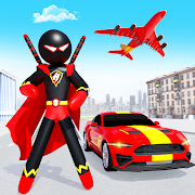 Stickman Ninja Rope Hero Game: Gangster Crime City