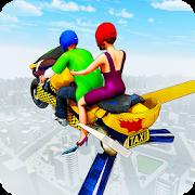 Flying Hover Bike Taxi Driver City Passenger Sim